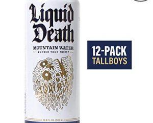 Liquid Death Mountain Water, 16.9 oz Tallboys (12-Pack) $17.59
