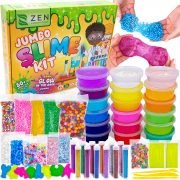 DIY Slime Kit for Girls Boys – Ultimate Glow in The Dark Glitter Slime Making Kit $19.95