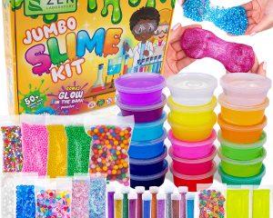 DIY Slime Kit for Girls Boys – Ultimate Glow in The Dark Glitter Slime Making Kit $19.95