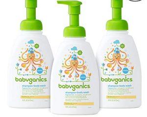Babyganics Baby Shampoo and Body Wash, Fragrance Free, 3 Pack $15.99