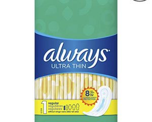 Always Ultra Thin, Size 1, Regular Pads, Unscented 44 Count, Pack of 3 $12.42