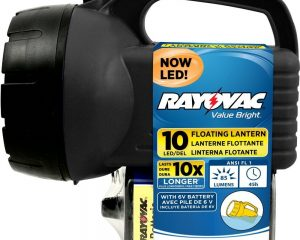 Rayovac Value Bright Floating Camping Lantern with Battery Included $4.92
