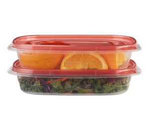 Rubbermaid TakeAlongs Rectangular Food Storage Containers, 4 Cup, Tint Chili, 2 Count  $3.25