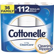 Cottonelle Ultra CleanCare Toilet Paper, Strong Bath Tissue, Septic-Safe, 36 Family+ Rolls $15.98
