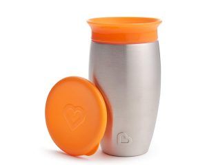 Munchkin Miracle Stainless Steel 360 Sippy Cup, Orange, 10 Ounce $10.33