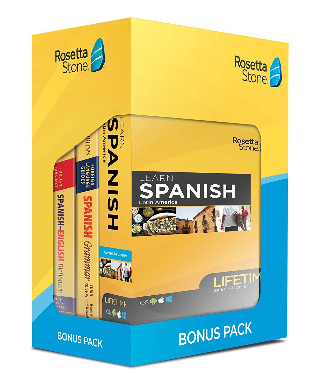 Learn Spanish Rosetta Stone Bonus Pack Bundle Lifetime