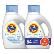 Tide Free and Gentle HE Liquid Laundry Detergent, 2 Pack of 50 oz. Only $11.73