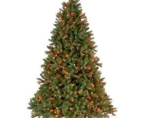 National Tree 6.5 Foot Feel Real Downswept Douglas Fir Tree with 650 Multicolored Lights $143.35