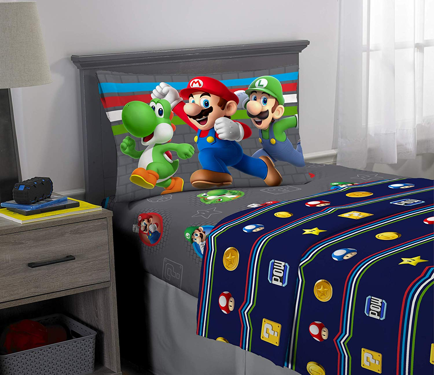 Picture of: Franco Kids Bedding Super Soft Sheet Set 3 Piece Twin Size Mario 9 51