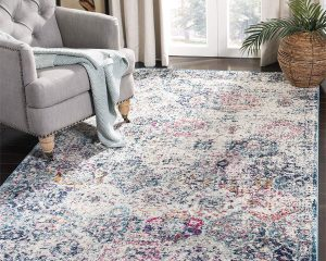 Safavieh MAD611N-8 Rug, 8′ x 10′, Navy/Teal $139.99