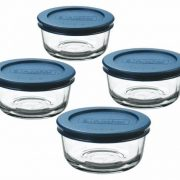 Anchor Hocking Classic Glass Food Storage Containers with Lids, Blue, 1 Cup (Set of 4) $6.26