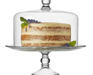 Libbey Selene Glass Cake Stand with Dome $21.17