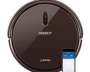 ECOVACS DEEBOT N79S ROBOT VACUUM CLEANER WITH MAX POWER SUCTION, ALEXA CONNECTIVITY, APP CONTROLS, SELF-CHARGING FOR HARD SURFACE FLOORS & THIN CARPETS $149.99