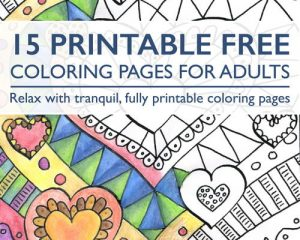 Tuesday Freebies-Free Coloring Pages for Adults