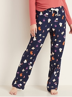Patterned Flannel Pajama Pants for Women - Firewood