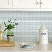 In Home Sea Glass Peel & Stick Backsplash Tiles, Blue Only $8.40