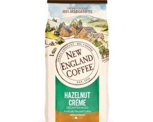 NEW ENGLAND COFFEE HAZELNUT CREME, DECAFFEINATED MEDIUM ROAST GROUND COFFEE, 10 OUNCE BAG $3.78