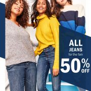 50% off All Jeans at Old Navy