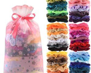 60 Pcs Premium Velvet Hair Scrunchies Hair Bands for Women or Girls Hair Accessories with Gift Bag $6.55