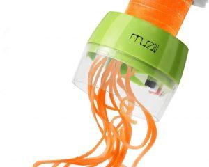 Spiralizer Handheld Vegetable Slicer Muzili Vegetable Spiral Slicer Cutter with 4 in 1 Functions Veggie Cutter $7.99