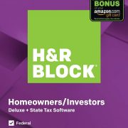 H&R Block Tax Software Deluxe + State 2019 with 4% Refund Bonus Offer [Amazon Exclusive] [PC Download] $22.49
