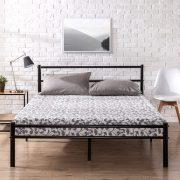 Zinus OLB-QLPBHFB-12F Geraldine 12 inch Black Metal Platform Bed Frame with Headboard and Footboard / Premium Steel Slat Support / Mattress Foundation, Full $58.67