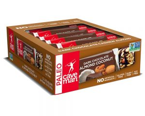 Caveman Foods Paleo-Friendly Nutrition Bar Dark Chocolate Almond Coconut, 1.4 Ounce (12 Count Box) $12.59