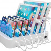 Hercules Tuff Charging Station for Multiple Devices – 6 USB Fast Ports – Short Cables Included – White $29.87
