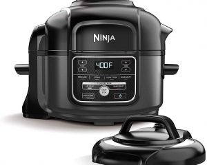 NINJA FOODI 7-IN-1 PROGRAMMABLE PRESSURE FRYER, SLOW MULTI COOKER WITH TENDERCRISP TECHNOLOGY, 5 POT, 3-QT. AIR FRY BASKET (OP101), 5-QUART, BLACK/GRAY $124.99
