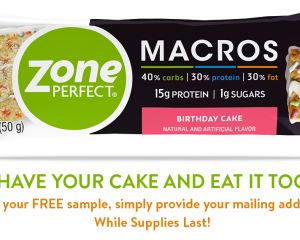 Thursday Freebies-Free ZonePerfect Macros Bar