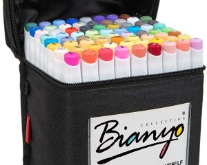 Bianyo Classic Series Alcohol-Based Dual Tip Art Markers(Set of 72,Travel Case) $30.59