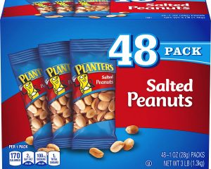 PLANTERS Salted Peanuts, 1 oz. Bags (48 Pack) Only $7.11