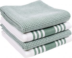 KAF Home Kitchen Towels, Set of 4 Absorbent, Durable and Soft Towels | Perfect for Kitchen Messes and Drying Dishes, 18 x 28 – Inches, Sage $9.99