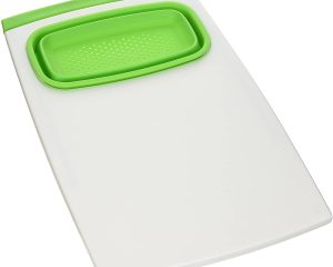 Prepworks by Progressive Over-the-Sink Cutting Board, PCB-3510G, Removable Collapsible Colander, Non-Skid Feet, Dishwasher Safe, Patented $13.42