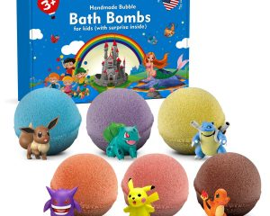 Bath Bombs For Kids with SURPRISE TOYS INSIDE – Kids Bath Bombs with Surprises Inside – Bath Bombs Gift Set for Girls & Boys – Multicolored Organic Bubble Bath Bombs – Natural and Safe For Kids $19.45