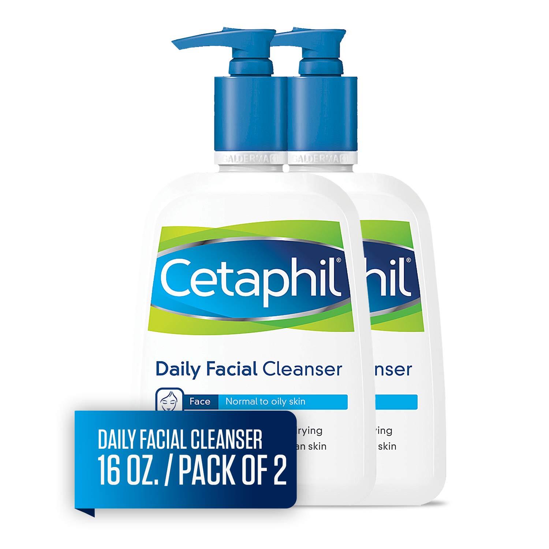 Cetaphil Limpador Facial, Lavagem Diária do Rosto para Pele Normal a Oleosa, 16oz (pacote com 2) $ 15.98 1