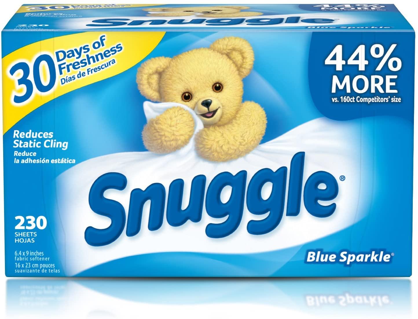Lençóis de secador de amaciante de tecidos aconchegantes, brilho azul, 230 Count $ 6.19 1