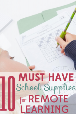 Wondering how to survive online school this fall? Set your kids up for success with these 10 must have school supplies for remote learning.