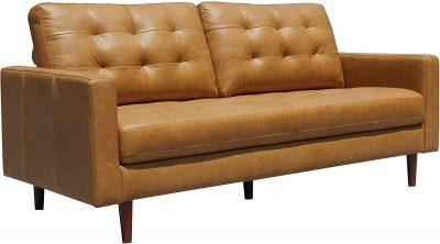 """Marca Amazon - Rivet Cove meados do século moderno sofá tufado com pernas cônicas, 72 """"W, caramelo $ 715,45 2"""