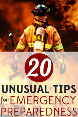 Emergency preparedness involves a lot that you probably haven't thought of. Follow these 20 unusual tips to prepare for any emergency.